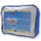 SINGLE SIZE Super Microfibre Duvets 4.5 10.5 13.5 Tog All Seasons Summer Winter