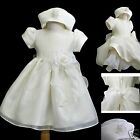 New Baby Toddler Girl Pageant Baptism Christening Formal Ivory dress size 0-36M
