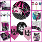 MONSTER HIGH GIRLS BIRTHDAY PARTY TABLEWARE DECORATIONS CUPS PLATES BALLOONS ETC