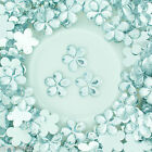 16mm Flat Back Flower Faceted Rhinestones Acrylic Gems Craft Embellishment Card