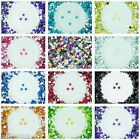 6mm Flat Back Star Faceted Rhinestones Acrylic Gems Craft Embellishment Card