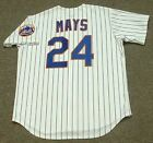 WILLIE MAYS New York Mets 1973 Majestic Cooperstown Home Baseball Jersey