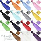 Mens Woven Silk Neck Tie Handky Handkie & Cufflinks Set Wedding Party Gift