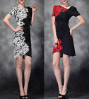 NEW Elegant Short Sleeve Dress Knit Dress #3217
