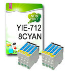 8PK TO712 / T0712 CYAN NON-OEM INK CARTRIDGE COMPATIBLE FOR STYLUS PRINTER