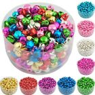 100 Pcs Colorful Iron Loose Beads Charms Pendants Jingle Bells Xmas 8x6 mm