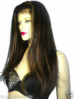 Silky Yaki 100% Indian Human Hair Remi Remy Full Lace Wig  #1B/27 High Quality