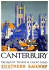 Canterbury Cathedral, Kent. Vintage SR Travel Poster art print by Griffin. 1937