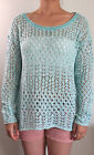 Hollister Women's bettys turquoise Pier view beach easy fit long sleeve sweater