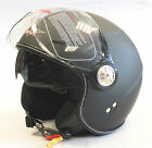 V-CAN V582 OPEN FACE MOTORCYCLE MOTORBIKE CRASH HELMET WITH DROP DOWN SUN VISOR