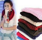 New lady Women Warm Scarf Infinity Cable Knit Cowl Neck Long Scarf    Shawl Winter