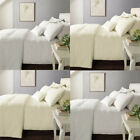 Catherine Lansfield Windsor Ladder Stitch Polycotton Percale Duvet Cover Set