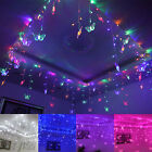 192 LED Heart Curtain Fairy Lights Lamp Christmas Xmas String Wedding 8x0.75m