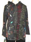 RISING INTERNATIONAL NEPAL HIPPIE HOODIE JACKET HANDMADE Cotton FLOWER POWER