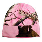 "PEACHES PICK LADIES Realtree AP PINK CAMO Knit Beanie Cap NEW WOMENS 8"" OR 12"""