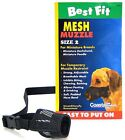 "Coastal Pet Best Fit Mesh Dog Muzzle Select A Size 3"" to 13 1 /2 Sm to LG Dogs"