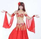 New Belly Dance Performance 2 Pairs Chiffon Armbands Armlets Arm Sleeve 12 color