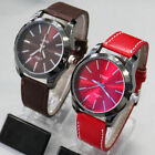 4 Choices Leatheroid Mens Stainless Steel Case New Fashion Quartz Watch Watches