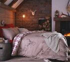 Stag Beige Deer Duvet Quilt Cover Bedd Set Single Double King Reversible