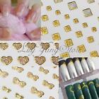 Shining Manicure Nail Art Tips Golden Water Transfers Sticker Wraps Decal DIY