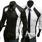 New Luxury Mens Casual Slim Fit Stylish Dress Shirt Formal Business shirt 2Color