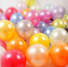 "100 pcs 50 pcs 10"" Birthday Wedding Party Decor Latex PEARL Balloons all Colors"