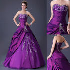 Quinceanera Formal Wedding Dress Bridal Gown Evening Prom Party Bridesmaid dress