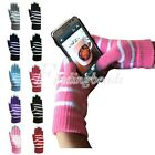 Knit Warm Unisex Touch For Gloves Capacitive StripeSmartphone Screen Tablet