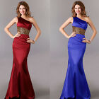 Formal Bridal Gown Bridesmaids Party Prom Cocktail Ball Gown Satin Evening dress