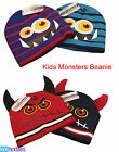 New Kids Boys Monsters Beanie Hat, Animal Hat Winter Gift