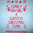 simply having a wasted christmas time ugly sweater humor xmas party beer t shirt