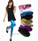 1pc Sexy Women's Shiny  Dance Pants Modern Metallic Footless Leggings Tights