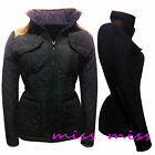 NEW WOMENS LADIES QUILTED PADDED BUTTON ZIP WINTER JACKET COAT TOP  SIZE 8-16