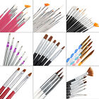 25 STYLE Nail Art Acrylic Tips Brush Pen Drawing Dotting Painting Liner Kit Set