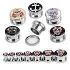 Pick Gauge 4-14mm Stainless Steel Screw Ear Plug Flesh Tunnels Expander Punk