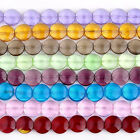 20mm Glass Loose Beads Craft Findings Flat Round Coin Button Strand