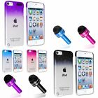 Color 3D Clear Rain Drop Crystal Hard Cover Case+Dust Cap Pen For iPod Touch 5