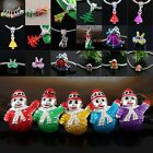 Holly Tree Candy Cane Snowman Santa Claus Christmas Charms Spacers Pendant Beads