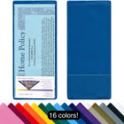 """Brochure & Policy Holder with Business Card Pocket -4"""" x 9""""-10 Pack - red blue.."""