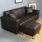 Sectional Sofa Couch Loveseat Leather Furniture Living Roon Set