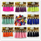 New Arriving 5pcs Artificial Leather Tassel colorful pandent 54mmx12mm For Bags