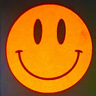 6 Reflective Smiley Face Hi Visibility Safety Stickers. Hi Viz School Safety Jog