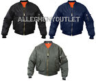 Military Air Force MA-1 Reversible Bomber Coat Flight Jacket Sizes XS-8XL NEW