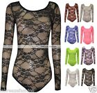 LADIES FLORAL LACE BODY TOP BODYSUIT LEOTARD PLUS SIZE 8 10 12 14 16 18 20 22 26