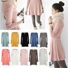 New Women Korean Style Solid Plain Cotton Soft Mini Casual One-piece Shirt Dress