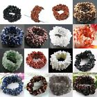 Womens Fashion Gem Gemstone Crystal Quartz Chip Beads Stretchy Bracelet Bangle