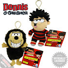 Dennis And Gnasher Clip On Bag Buddies Wih Sound. Dennis The Menace Bagclips