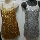 SEQUIN DRESS Complete leotard under dress Gold or Silver Dance Costume over 20