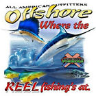Offshore Fishing Salt Water Fish Where the Reel Fishing's At T-Shirt S-6XL Tee