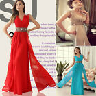 Long Chiffon Evening Formal Bridesmaid Wedding Ball Gown Prom Party Maxi Dresses